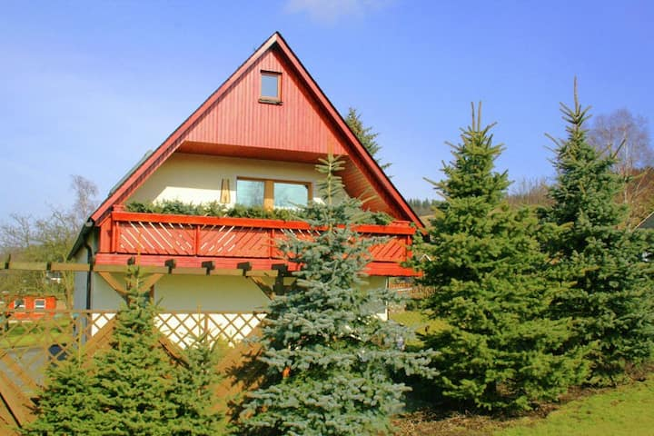 Lovely Holiday Home in Crottendorf with Terrace and Garden