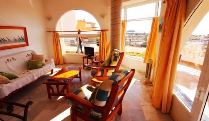 Apartamento en Bolnuevo - Luminoso, Vistas al mar