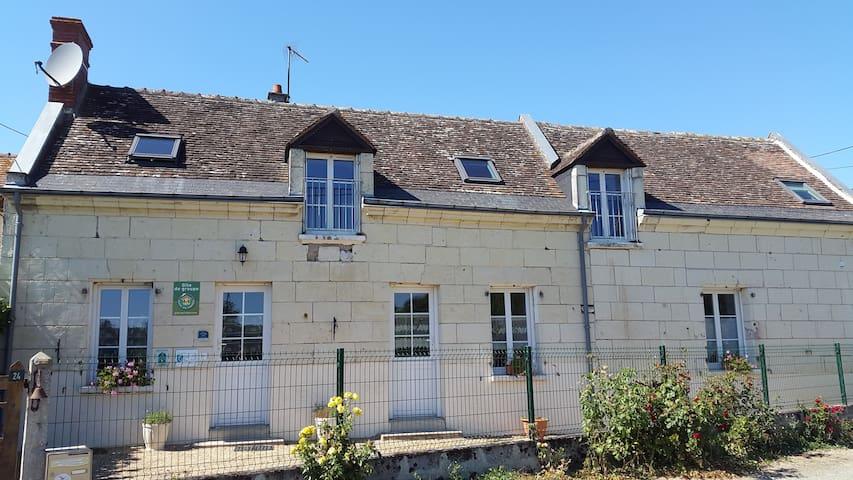 Maison tourangelle en bord de Loire - Bréhémont