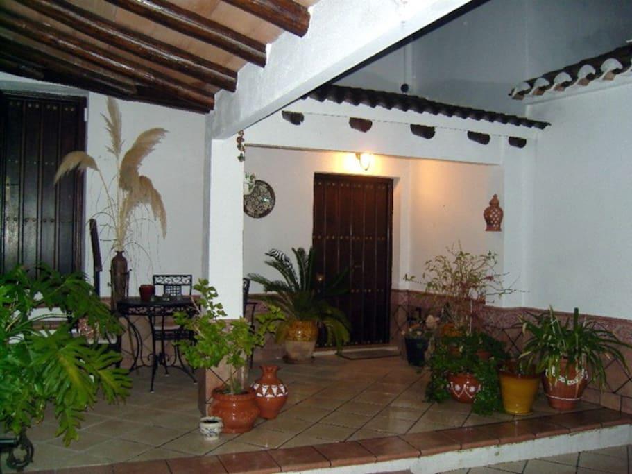 Interior courtyard.