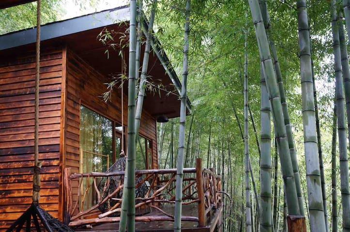 莫干山风景区山脚下被竹林环抱静谧的小木屋—莫干山国际登山步道必经之地