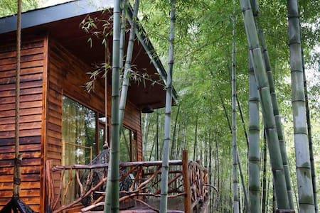 莫干山风景区山脚下被竹林环抱静谧的独栋小木屋—莫干山国际登山步道必经之地【足不出户看无敌山景】