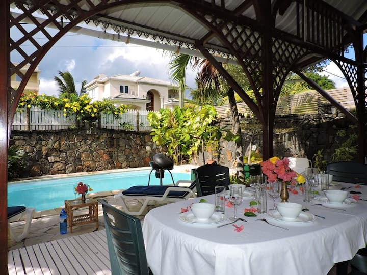 Villa with 4 bedrooms in Blue Bay, with private pool, enclosed garden and WiFi - 550 m from the beach