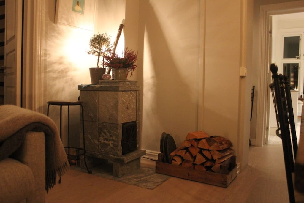 A cosy fireplace. All wood for free of course.