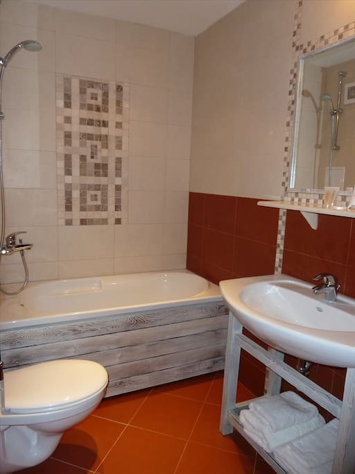 Bathroom 2 including bath and shower