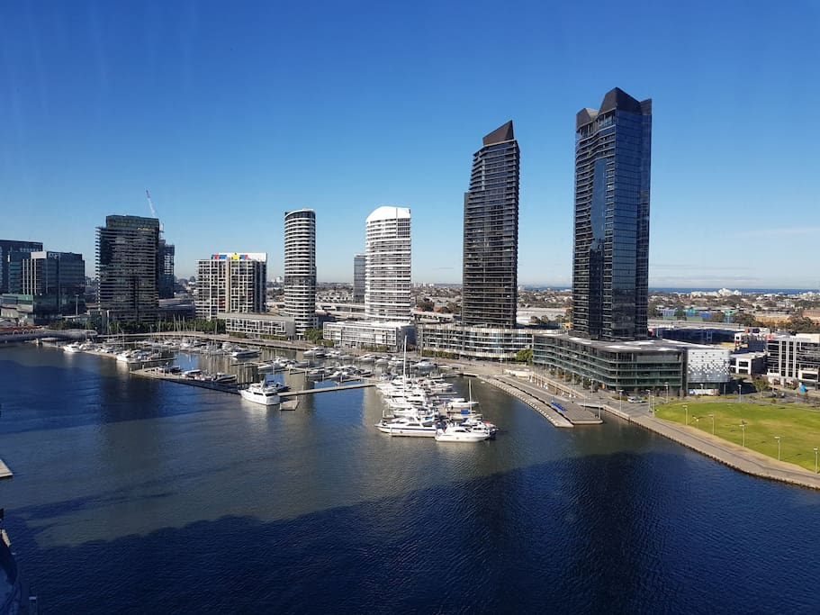 View 180° of the Yarra River from the Living room & Bedrooms