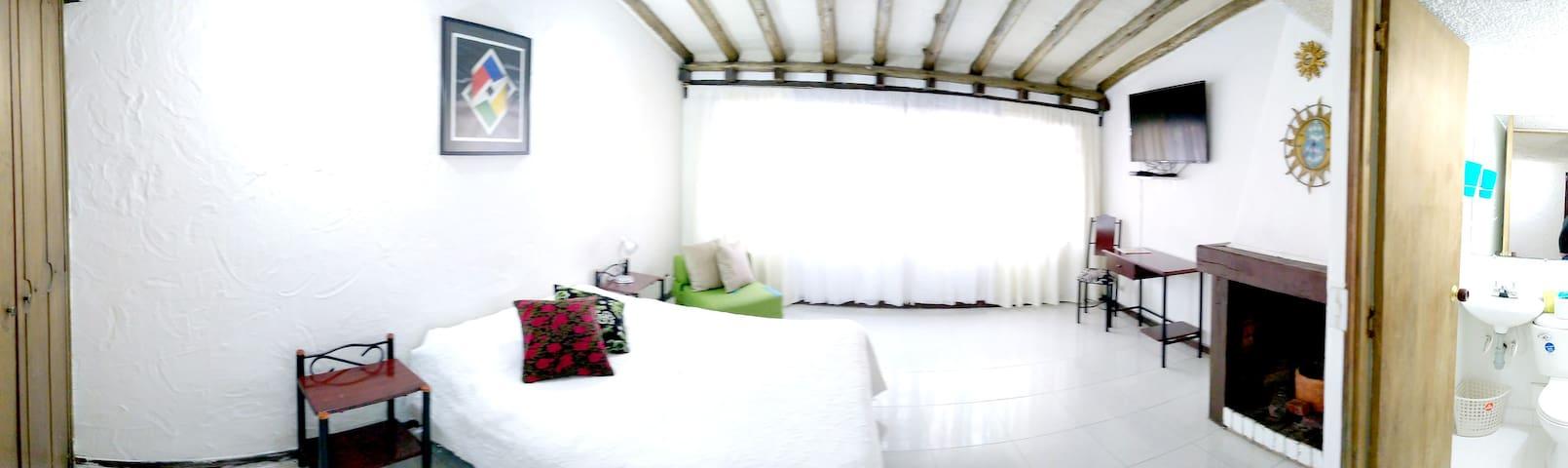Habitacion con chimenea Santa Barbara