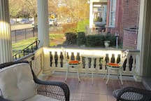 Front porch-Enjoy your morning coffee or evening wine out here.