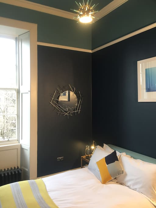 Situated at the rear of the property, over looking the garden, with original shutters to ensure the room is dark - all to help you enjoy a quiet, peaceful sleep.