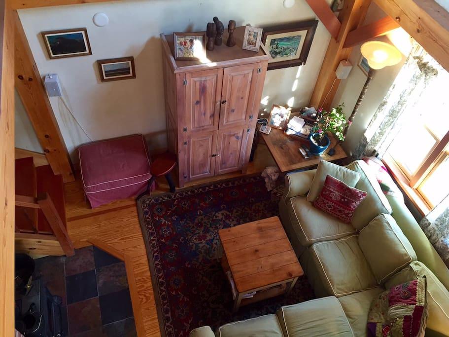 Livingroom view from Loft