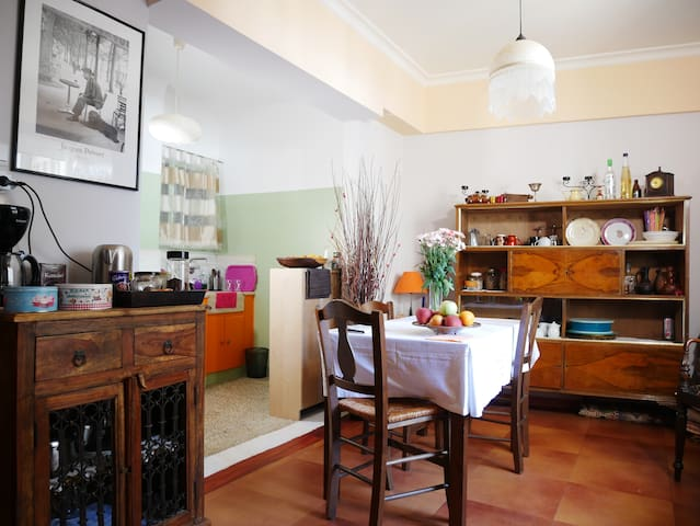 Dinning room, here you can stay for eat