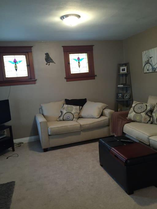 Shared living room.