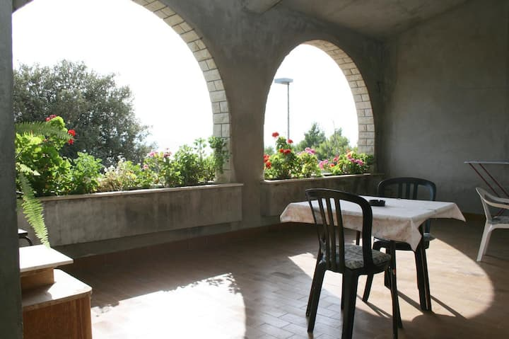 One bedroom apartment with terrace and sea view Stanići, Omiš (A-4653-b)