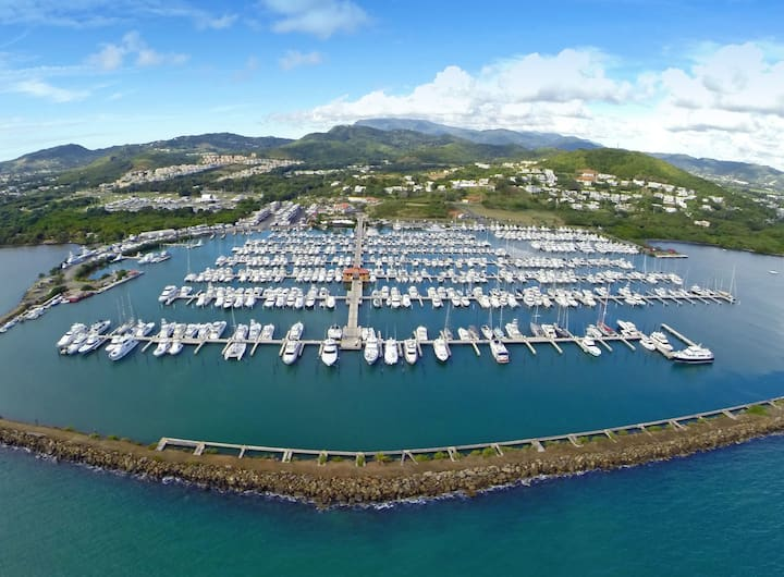 Luxury Yacht at the Best Marina of the Caribbean