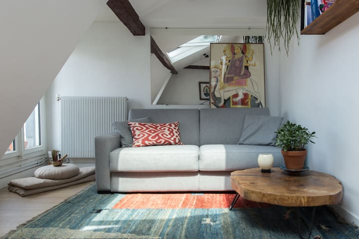 BEAUTIFUL COZY AND BRIGHT APARTMENT NEAR THE GALLERIES LAFAYETTES