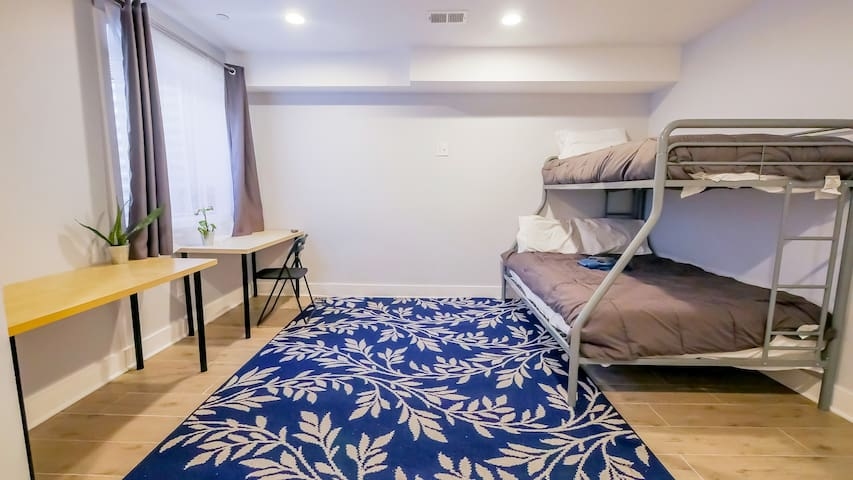 This room is perfect for international travelers, musicians/artists, or business people, even for longer stays. And, of course, this one is perfect for any group of adults (we're not child-friendly).