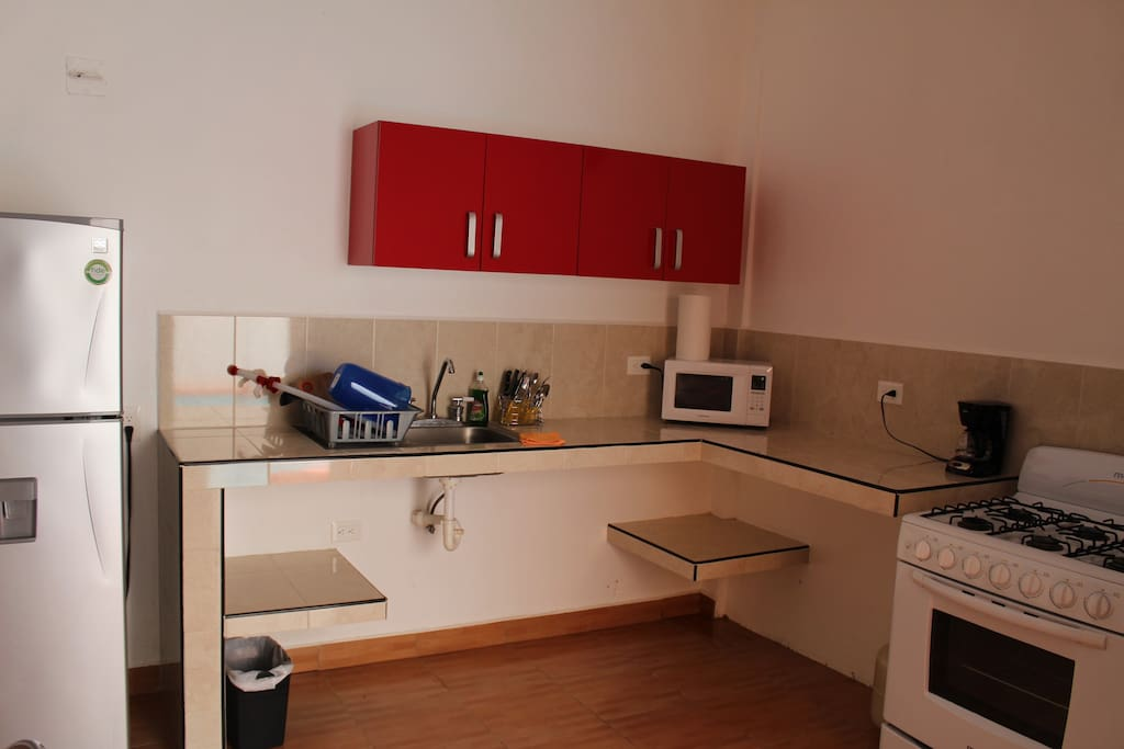 Kitchen area with your basic needs.