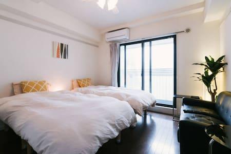 Twin bed room#B@Downtown of Tenjin - Chuo-ku Fukuoka-shi - Apartment