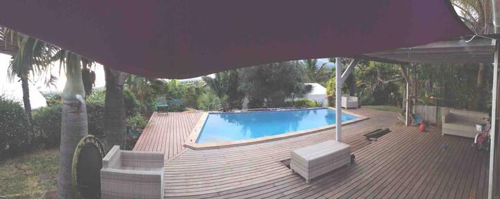 Charmante maison bois avec piscine