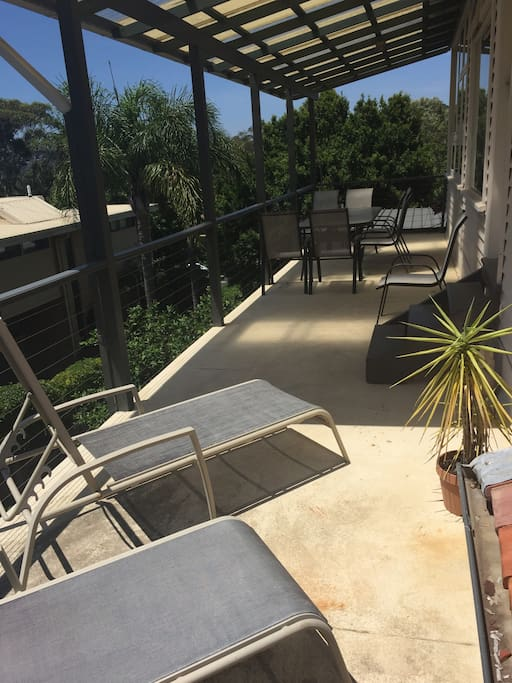 Large sunny balcony, occasionally shared with owners