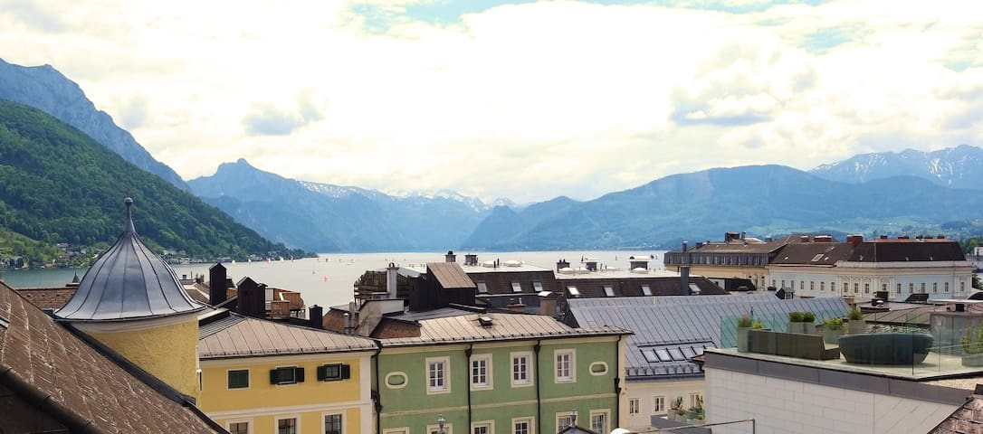 Above the Roofs of Gmunden