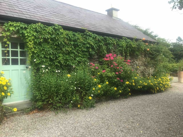 At one time- back in the 1700's - it must have been a stone -built, thatched - roofed farm labourer's cottage until in the 19th century it became an outbuilding for the main farmhouse.  Then, In the 1990's it was given a new lease of life , converted into