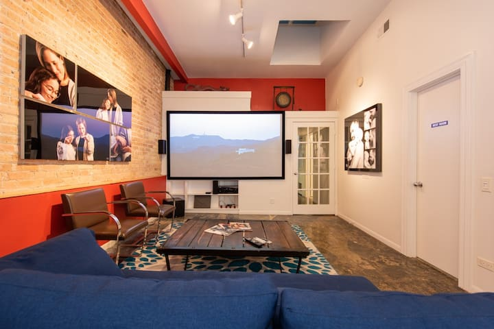 Your cinema experience Living room: Netflix and HBO included