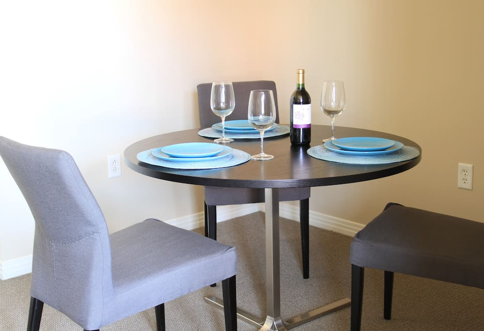 Dining utensils available for use