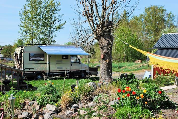 Caravan hostel, mobile home - Norrtälje N