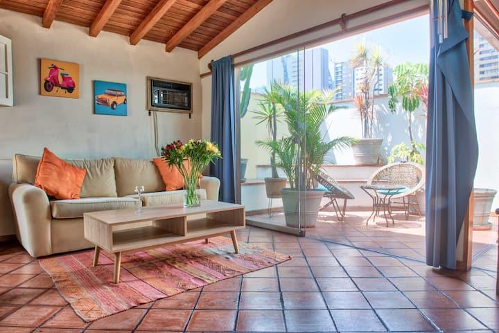 Luminoso y acogedor apartamento Centro Miraflores