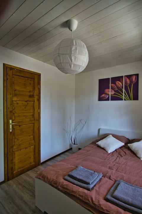 Mákvirág private bedroom at Borsika Napterasz