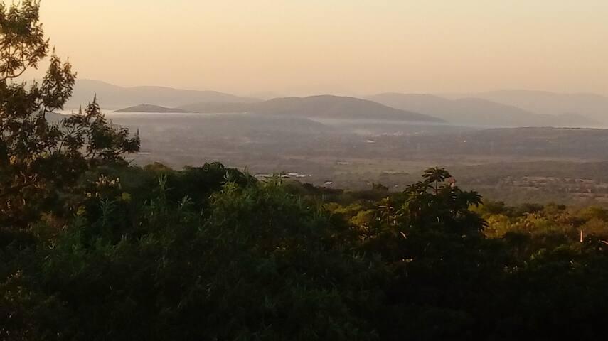 Vista desde la casa hacia el valle de Yautepec