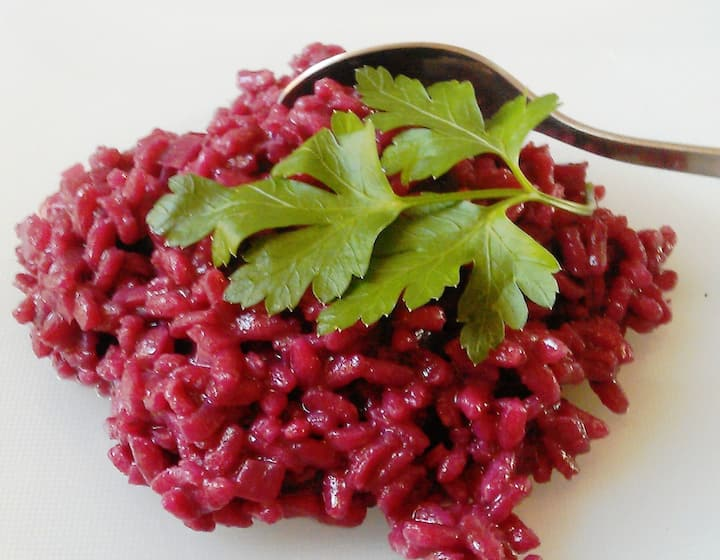 Risotto with Barolo wine, Details