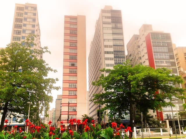 Apartment in front of the beach - Santos - Apartment