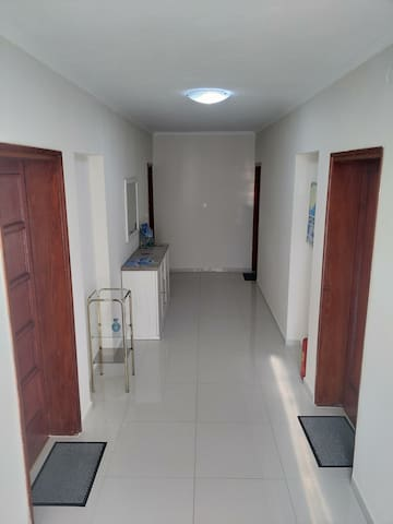This room is the second door to the right