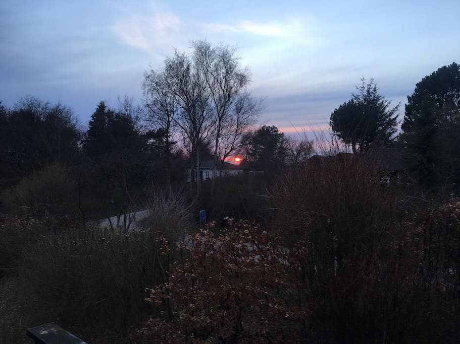 Early spring sunsets from house