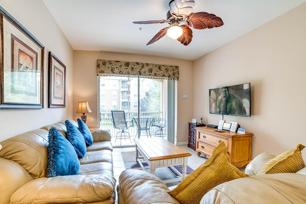 Relax and enjoy a movie in the evenings in this beautiful condo at Windsor Hills