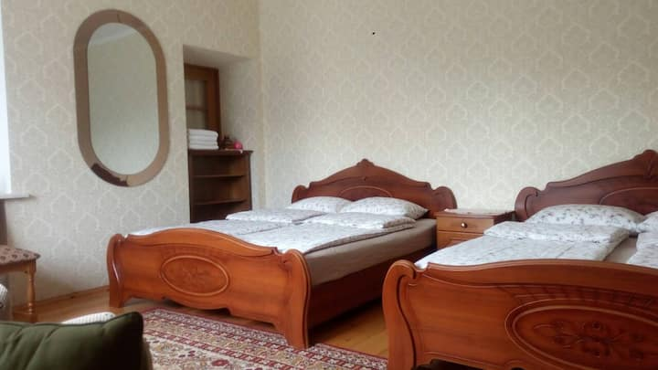 Четырехместная спальня в гостевом доме Изумрудный