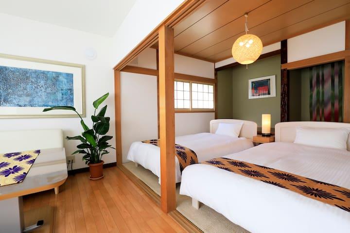 IRONAI HOUSE*小樽駅徒歩5分/運河徒歩2分 アットホーム一軒家貸切/駐車場WIFI有り