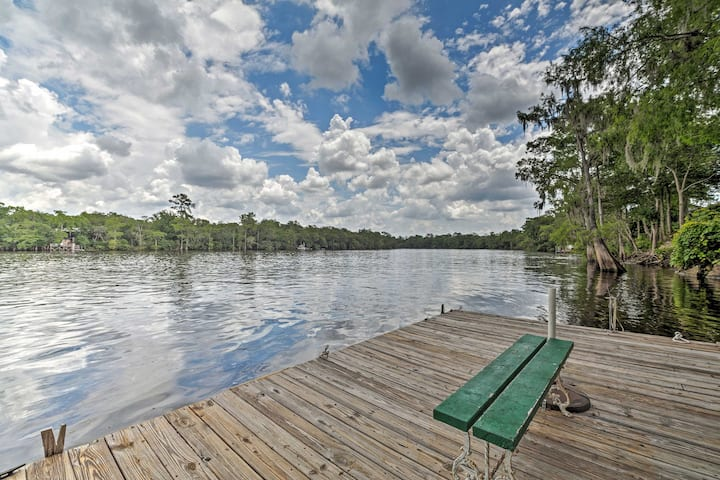 NEW! Riverfront Old Town Retreat with Private Dock