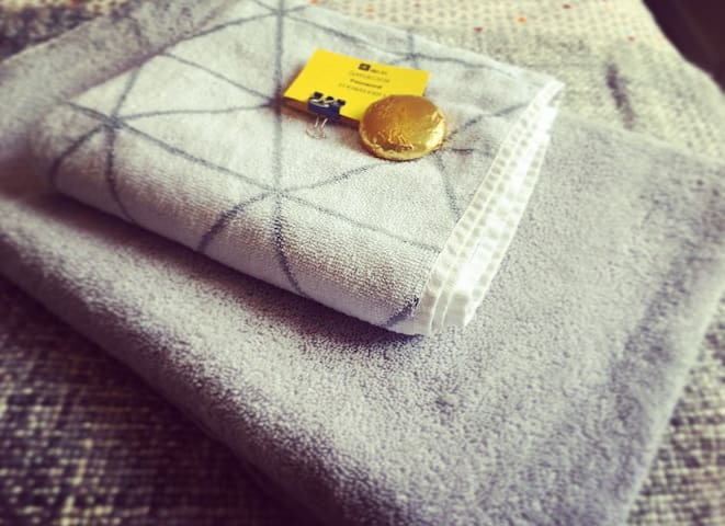 Clean fluffy towels, WiFi and chocolate - guest essentials!