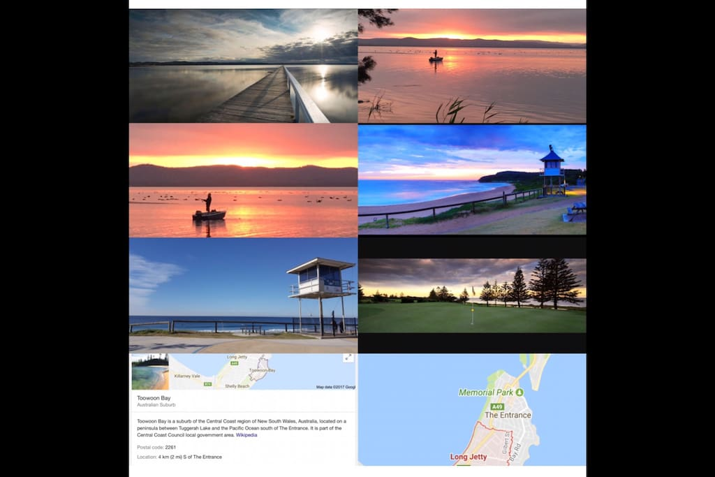 """Location shots  """"theLAKE the JETTY The BEACH' &  the GOLF club"""