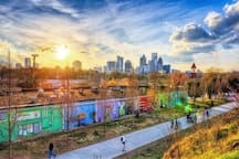 Just a few minutes walk from the ATL's famous Beltline trail