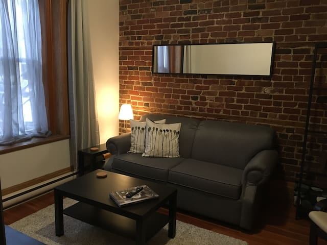 Cozy, across the street from the river, metro,park - Montreal - Apartamento