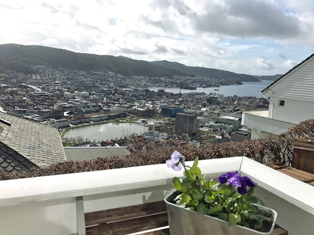 Great apartment with a panoramic view over Bergen - Bergen - Apartment