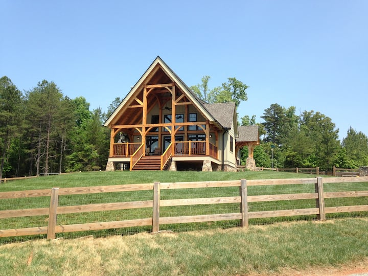 Farm Stay in  beautiful Timber Frame House & Goats