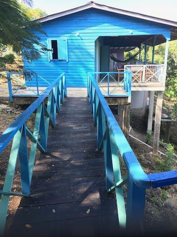 wooden bridge to the hut 2
