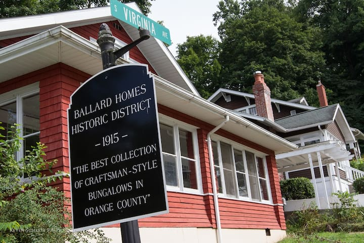 Located in the Ballard Homes Historic District, the neighborhood has rich arcitecture and is great for taking walks.
