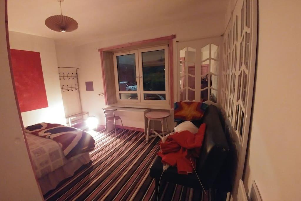 the room from the door