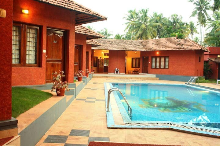 Pool facing room at Varkala